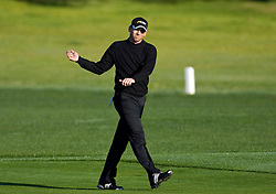 February 14, 2010; Pebble Beach, CA, USA;  Sergio Garcia on the second hole during the final round of the AT&T Pebble Beach Pro-Am at Pebble Beach Golf Links.
