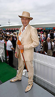 Finalist in the Anthony Ryan Best Dressed Competition Keith Kane From Co Down at Ladies day of the Galway Races in Ballybrit. Photo:Andrew Downes