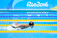 Sophie Pascoe of New Zealand competes in the Women's 100m Butterfly S10 final on day 4 of the Rio 2016 Paralympic Games at Olympic Stadium on September 11, 2016 in Rio de Janeiro, Brazil.