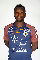 Casimir Ninga during photoshooting of Montpellier Herault  for new season 2017/2018 on September 3, 2017 in Montpellier<br /> Photo : Mhsc / Icon Sport