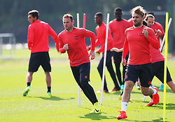 Wayne Rooney of Manchester United trains - Mandatory by-line: Matt McNulty/JMP - 14/09/2016 - FOOTBALL - Manchester United - Training session ahead of Europa League Group A match against Feyenoord