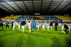 Players of NK Maribor celebrating after winning national championship during Football match between NK Celje and NK Maribor in 33th Round of Prva liga Telekom Slovenije 2018/19, on May 15th, 2019, in Stadium Celje, Slovenia. Photo by Grega Valancic / Sportida