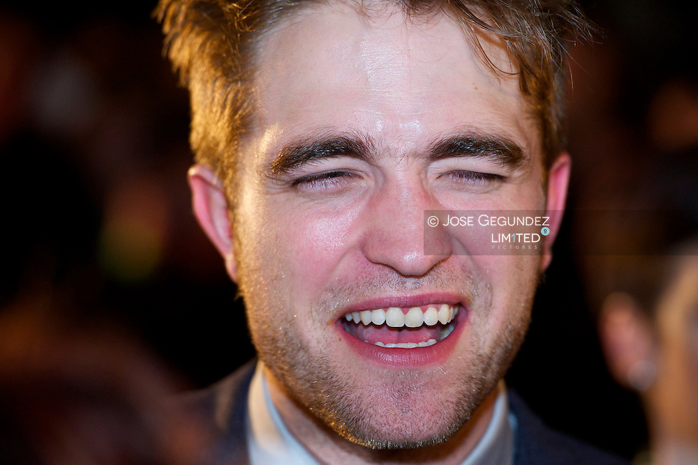 US Actor Robert Pattinson attends the Spain premiere of The Twilight Saga: Breaking Dawn Part 1 at Forum del Centro de Convenciones Internacional in Barcelona, Spain