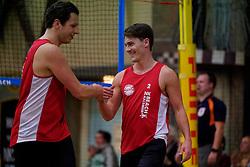04-01-2020 NED: NK Beach volleyball Indoor, Aalsmeer<br /> Tom Feldkamp, Erik Nijland
