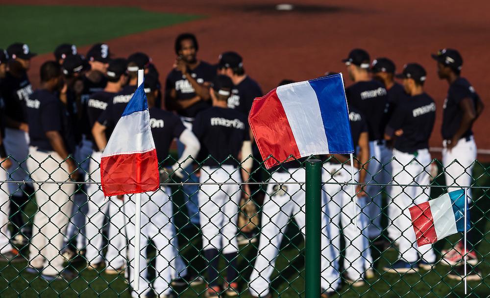 Team France pre-game meeting, 2016.