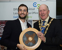 Repro FREE:    Moshe Zilversmit, Signum Surgical, Winner Best New Idea Galway, IBYE 2016 presented by  Cllr Noel Larkin Mayor of Galway City awarded by Local Enterprise Office Galway at the Portershed. <br /> Photo:Andrew Downes, xposure