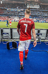 22.06.2016, Stade de France, St. Denis, FRA, UEFA Euro 2016, Island vs Oesterreich, Gruppe F, im Bild Marko Arnautovic (AUT) enttäuscht nach dem Ausscheiden in der Gruppenphase // Marko Arnautovic (AUT) disappointed after stopp at the group stage during Group F match between Iceland and Austria of the UEFA EURO 2016 France at the Stade de France in St. Denis, France on 2016/06/22. EXPA Pictures © 2016, PhotoCredit: EXPA/ JFK