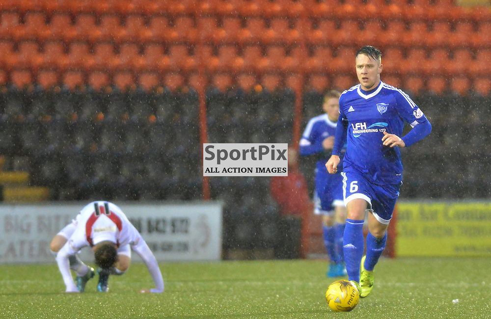 Ryan Strachan of Peterhead in action against Airdrie.....(c) BILLY WHITE | SportPix.org.uk