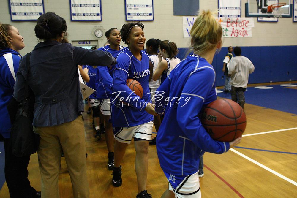 MCHS Varsity Girls Basketball.vs Rappahannock.2/4/2008..