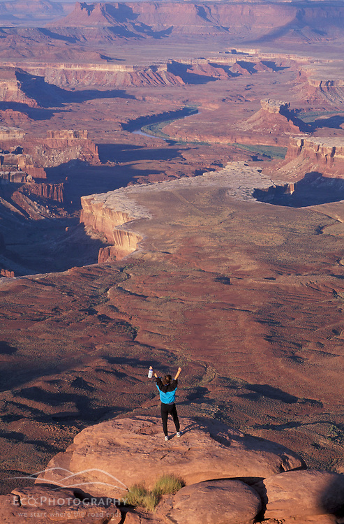 """Canyonlands National Park, UT..Hiking. """"Island in the Sky"""" District.  Green River Overlook. Sandstone."""