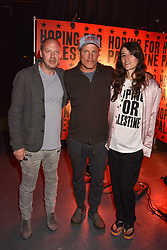 "Matthew Freud, Woody Harrelson, Bella Freud at ""Hoping For Palestine"" Benefit Concert For Palestinian Refugee Children held at The Roundhouse, Chalk Farm Road, England. 04 June 2018. <br /> Photo by Dominic O'Neill/SilverHub 0203 174 1069/ 07711972644 - Editors@silverhubmedia.com"