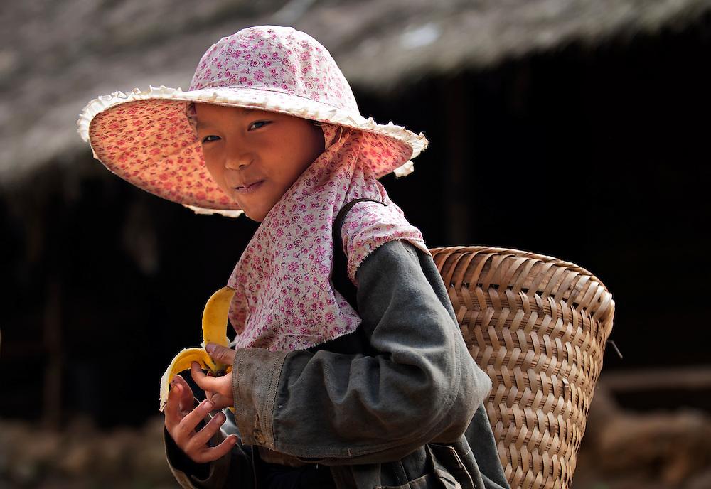 A Hmong girl near Luang Prabang, Laos.