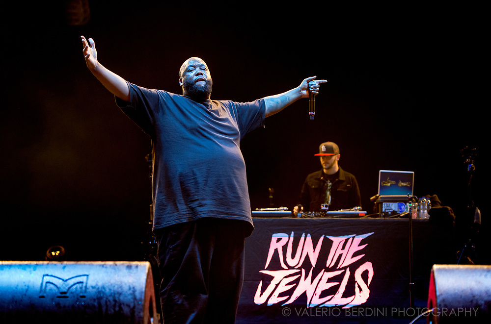 Run The Jewels headlining the main stage at Field Day London on 3 June 2017