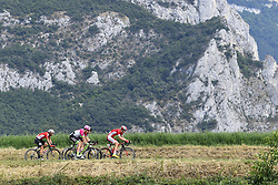 July 20, 2018 - Valence, France - VALENCE, FRANCE - JULY 20 : DE GENDT Thomas (BEL) of Lotto Soudal, SCULLY Thomas of Team EF Education First-Drapac p/b Cannondale, CLAEYS Dimitri of Cofidis, Solutions Credits during stage 13 of the 105th edition of the 2018 Tour de France cycling race, a stage of 169.5 kms between Bourg d'Oisans and Valence on July 20, 2018 in Valence, France, 20/07/2018 (Credit Image: © Panoramic via ZUMA Press)
