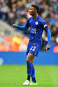 Leicester City midfielder Demarai Gray (22) during the Premier League match between Leicester City and Stoke City at the King Power Stadium, Leicester, England on 1 April 2017. Photo by Jon Hobley.