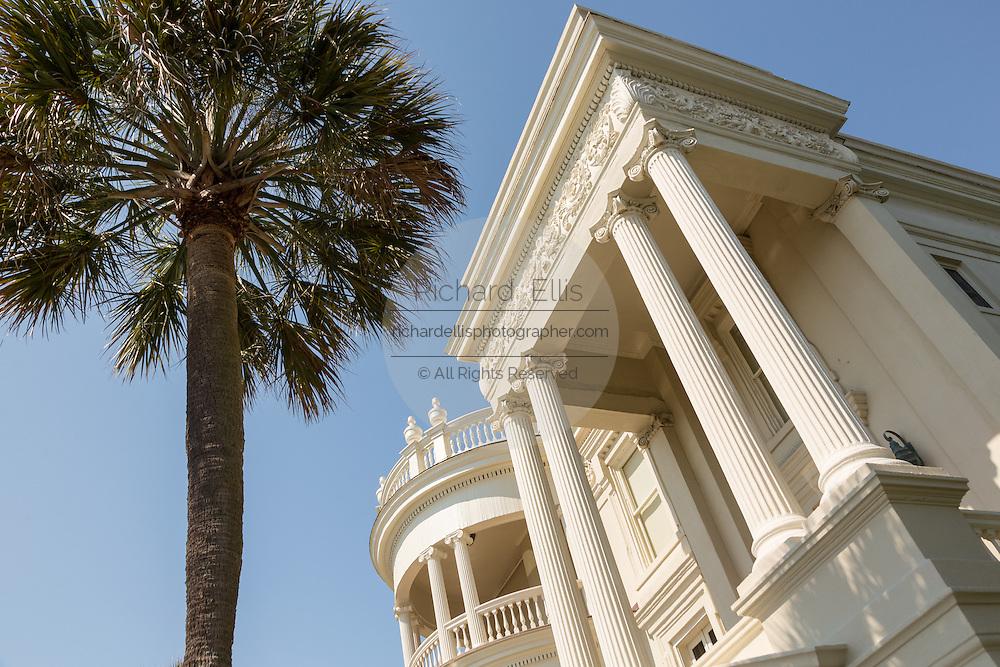 The Porcher-Simonds House on East Battery in historic Charleston, SC.