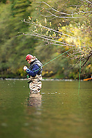 Jon Mercedich fly fishing on the Trinity River in Northern California.
