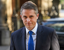 © Licensed to London News Pictures. 02/09/2019. London, UK. Education Secretary GAVIN WILLIAMSON is seen in Westminster, London. British Prime Minister Boris Johnson will prorogue Parliament in the run up to Britain's planned Brexit deadline in an attempt to keep the option of a 'no deal' Brexit. Photo credit: Ben Cawthra/LNP
