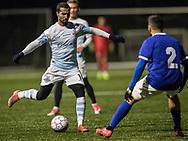 FODBOLD: Osama Akharraz (FC Helsingør) under træningskampen mellem Fremad Amager og FC Helsingør den 24. januar 2018 på kunstgræsbanen ved Sundby Idrætspark. Foto: Claus Birch