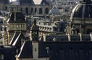 France. Paris. elevated view. Paris view from Saint Etienne du Mont Bell's tower. The Sorbonne