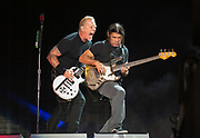 James Hefield and Robert Trujillo<br />