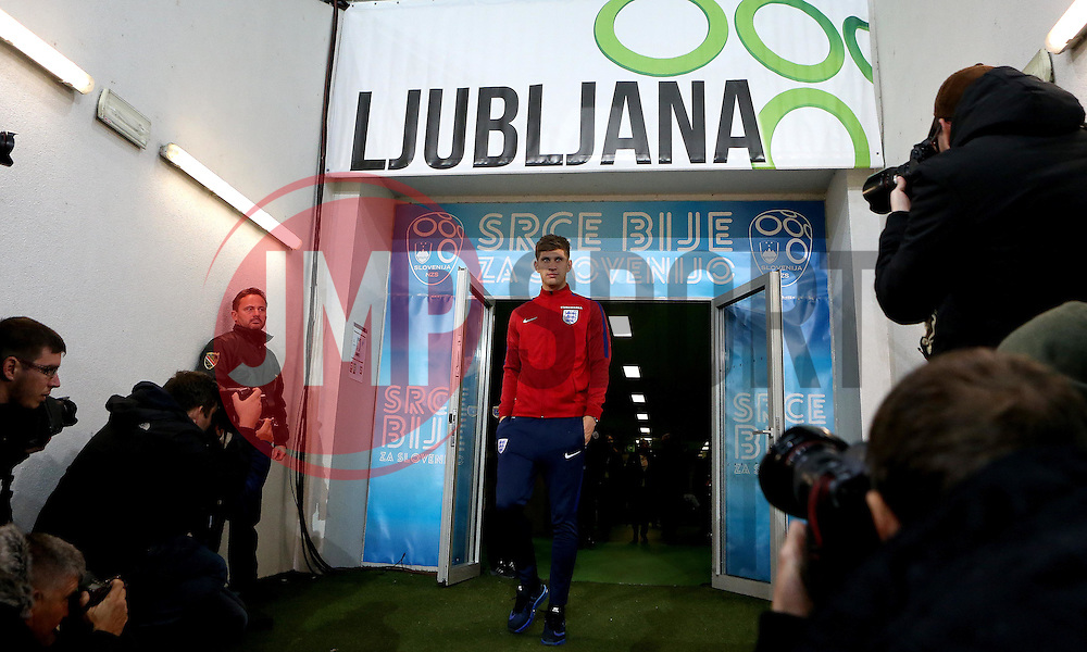 John Stones of England arrives at The SRC Stozice Stadium ahead of the World Cup Qualifier against Slovenia - Mandatory by-line: Robbie Stephenson/JMP - 10/10/2016 - FOOTBALL - SRC Stozice - Ljubljana, England - England Press Conference