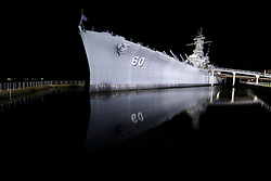 20 Apr 2013. Mobile, Alabama..The USS Alabama, a WWII era battleship turned museum in Mobile Bay. .Photo; Charlie Varley.