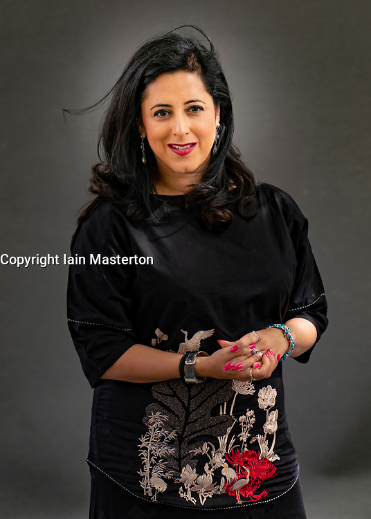 Edinburgh, Scotland, UK. 23 August 2019. Anita Anand. Anita Anand's book The Patient Assassin tells the story of the Amritsar Massacre in India. Iain Masterton/Alamy Live News.