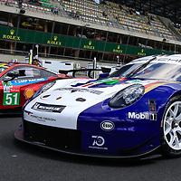 #91, Porsche Motorsport, Porsche 911 RSR, LMGTE Pro, driven by: Richard Lietz, Gianmaria Bruni, Frederic Makowiecki, 24 Heures Du Mans  2018,  Test, 02/06/2018,