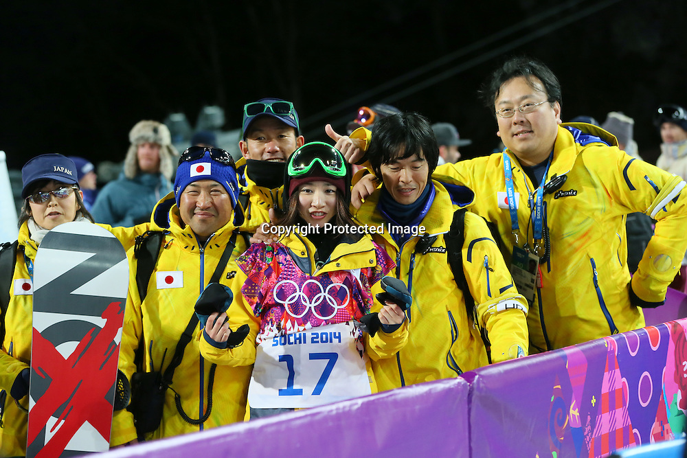 "Rana Okada (JPN), <br /> FEBRUARY 12, 2014 - Snowboarding : <br /> Women's Halfpipe Final <br /> at ""ROSA KHUTOR"" Extreme Park <br /> during the Sochi 2014 Olympic Winter Games in Sochi, Russia. <br /> (Photo by YUTAKA/AFLO SPORT)"