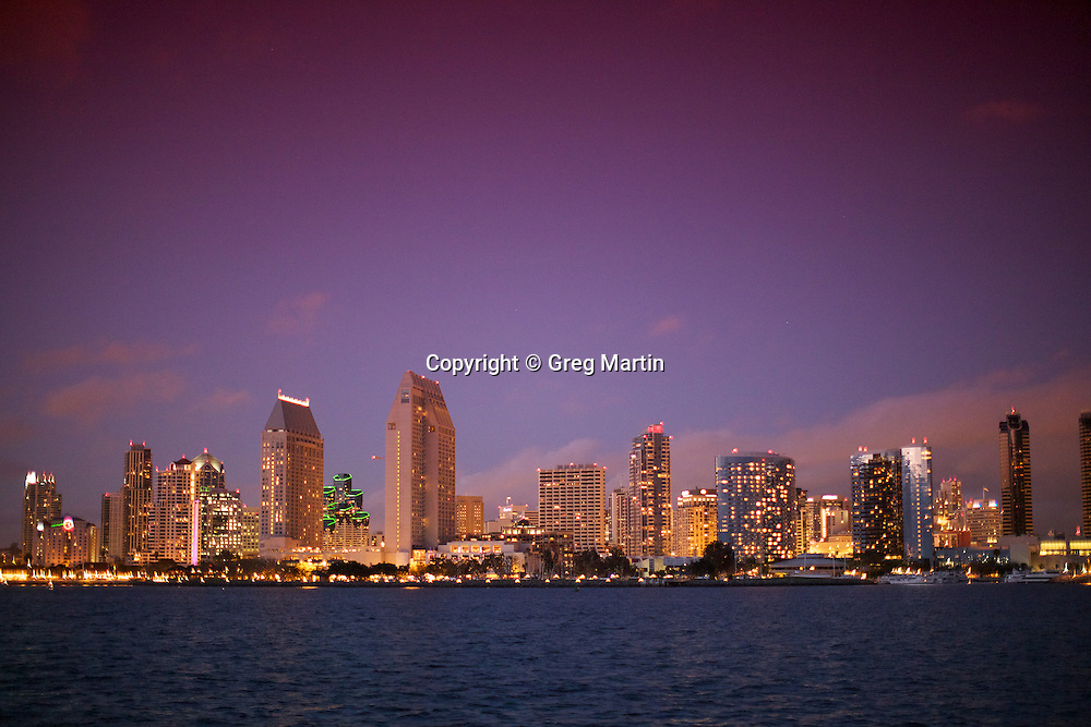Photos of San Diego from Coronado Island at Centennial Park, California