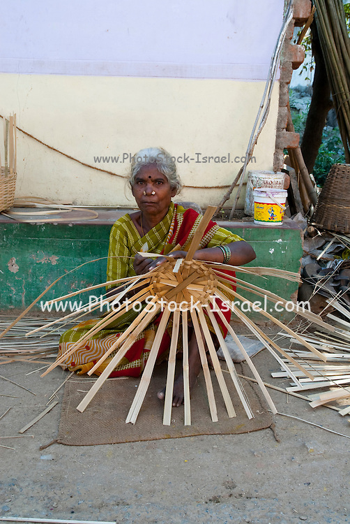India, straw basket weaving