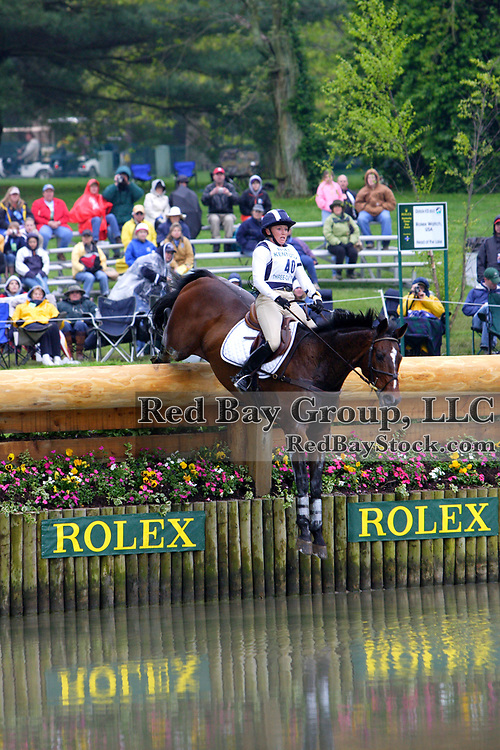Hawley Bennett (CAN) and Livingstone at the 2005 Rolex Kentucky Three-Day Event.
