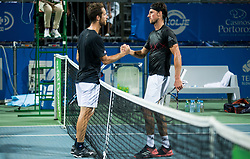 Constant Lestienne (FRA) congrats Andrea Arnaboldi (ITA)  after winning during Final Singles match at Day 9 of ATP Challenger Zavarovalnica Sava Slovenia Open 2018, on August 11, 2018 in Sports centre, Portoroz/Portorose, Slovenia. Photo by Vid Ponikvar / Sportida