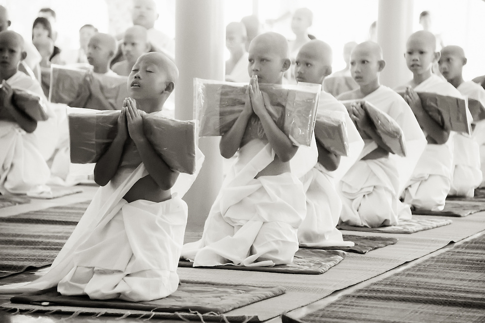The ordination of young men as they become novice monks in  rural Nakhon Nayok, Thailand.  PHOTO BY LEE CRAKER