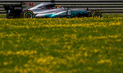 July 8, 2017 - Spielberg, Austria - Lewis Hamilton of Great Brittain and AMG Mercedes driver during the qualification session on Austrian F1 GP at Red Bull Ring  on July 08, 2017 in Speilberg, Austria. (Credit Image: © Robert Szaniszlo/NurPhoto via ZUMA Press)