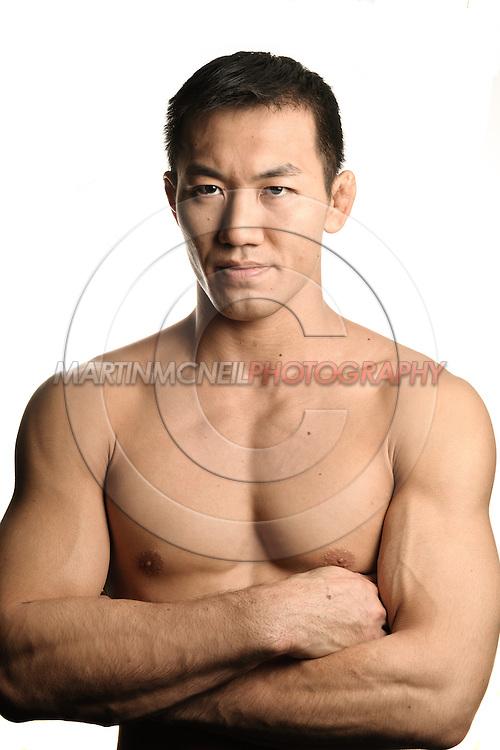 A portrait of mixed martial arts athlete Yushin Okami