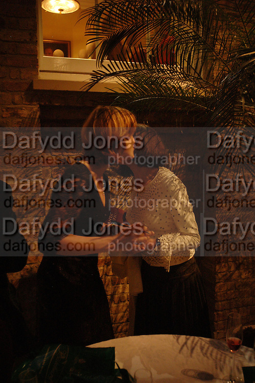 Santa Montefiore and Lady Barbara Black. Book party for LAST VOYAGE OF THE VALENTINA by Santa Montefiore (Hodder & Stoughton) Asprey,  New Bond St. 12 April 2005. ONE TIME USE ONLY - DO NOT ARCHIVE  © Copyright Photograph by Dafydd Jones 66 Stockwell Park Rd. London SW9 0DA Tel 020 7733 0108 www.dafjones.com