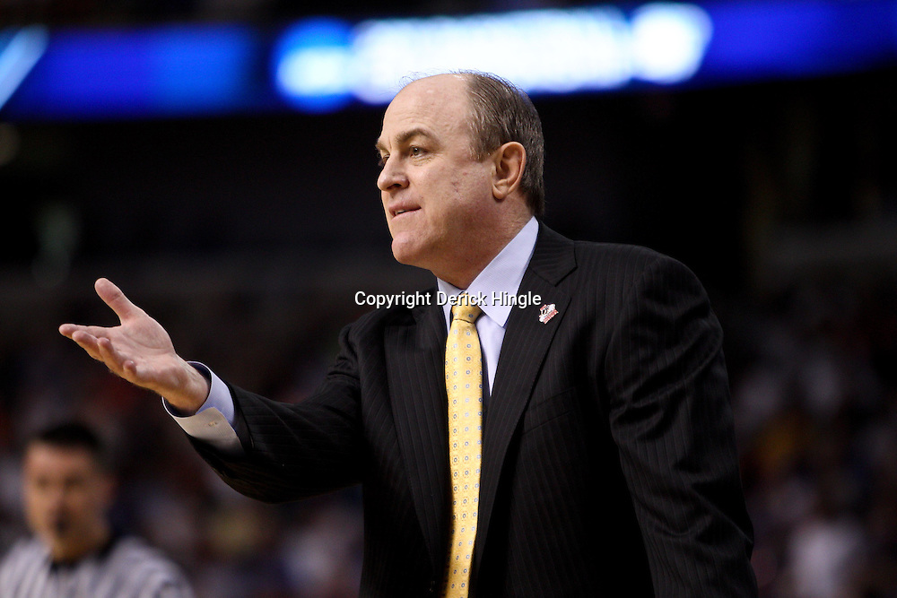Mar 19, 2011; Tampa, FL, USA; UCLA Bruins head coach Ben Howland against the Florida Gators  during first half of the third round of the 2011 NCAA men's basketball tournament at the St. Pete Times Forum.  Mandatory Credit: Derick E. Hingle