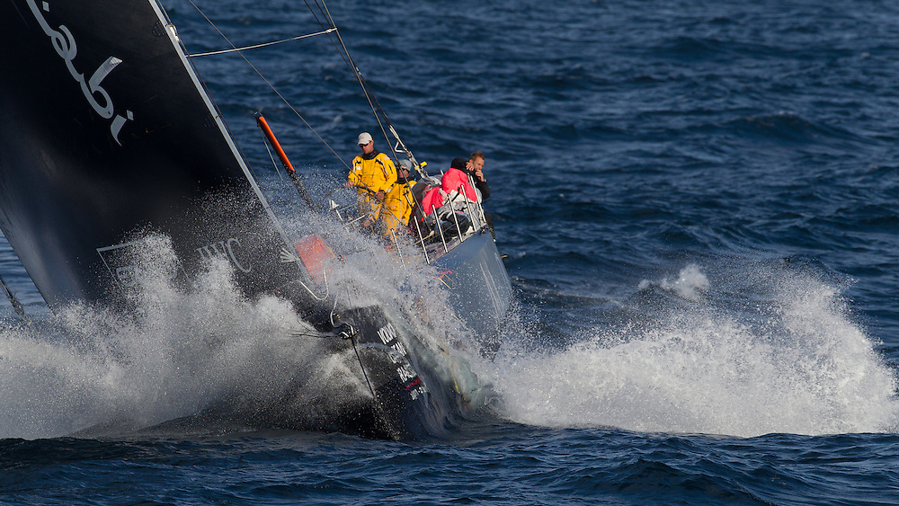 FRANCE,  Point Penmarc'h. 1st July 2012. Volvo Ocean Race, Leg 9 Lorient-Galway. Abu Dhabi Ocean Racing.