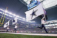 06 November 2011: The Dallas Cowboys' Cowboys run across the field after the Cowboys score against the Seattle Seahawks during the second half of the Cowboys 23-13 victory over the Seahawks at Cowboy Stadium in Arlington, TX.