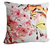 cherry blossom cushion pink and white. 50x50cm