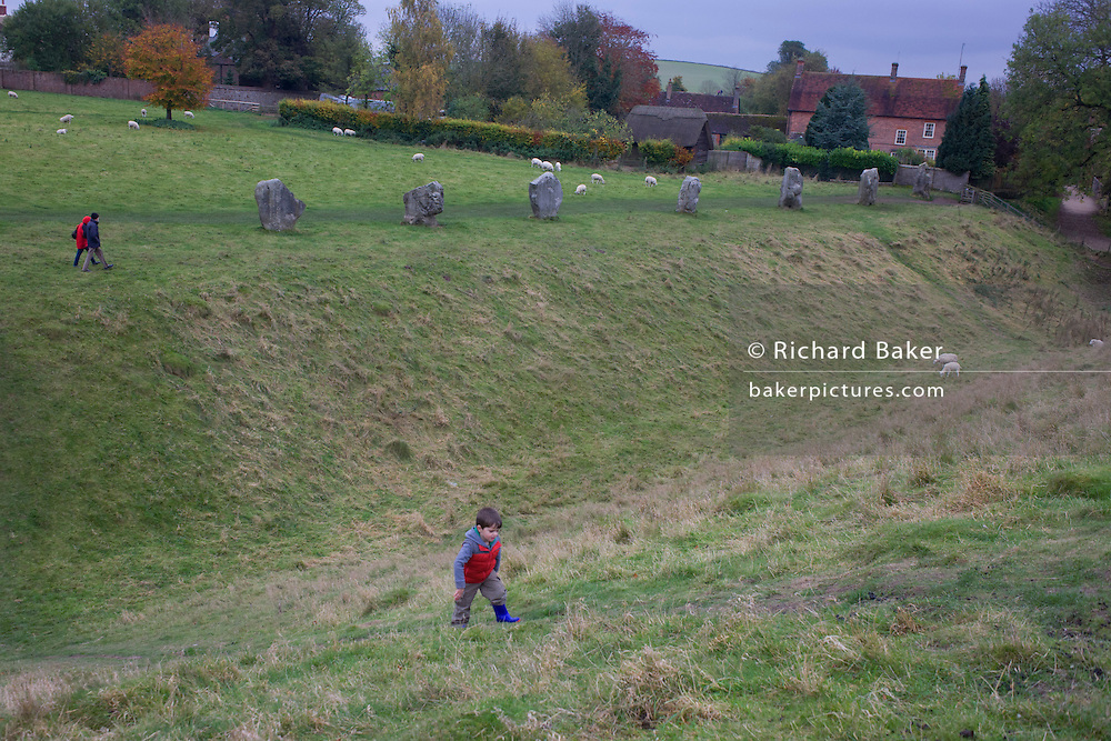 Neolithic standing stones at Avebury in Wiltshire, England.