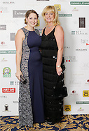 29/9/14***NO REPRO FEE***Pictured are Rachel Bennett and Carla O'Kelly at the 11th Q Ball in aid of Spinal Injuries Ireland at The Ballsbridge Hotel last night Pic: Marc O'Sullivan