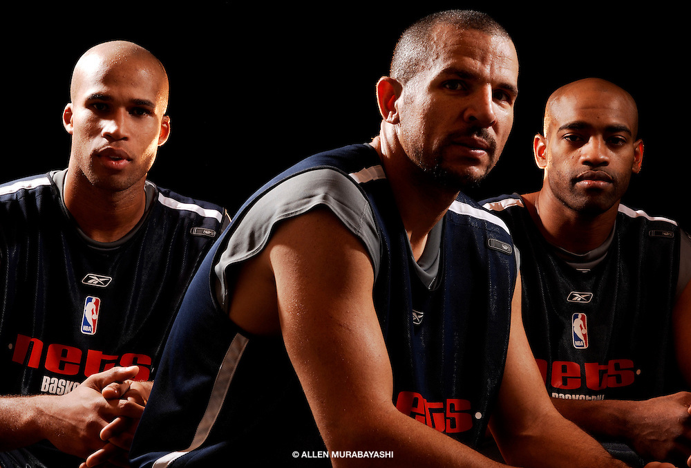 Richard Jefferson, Jason Kidd, and Vince Carter at the start of the 2005-2006 NBA Season
