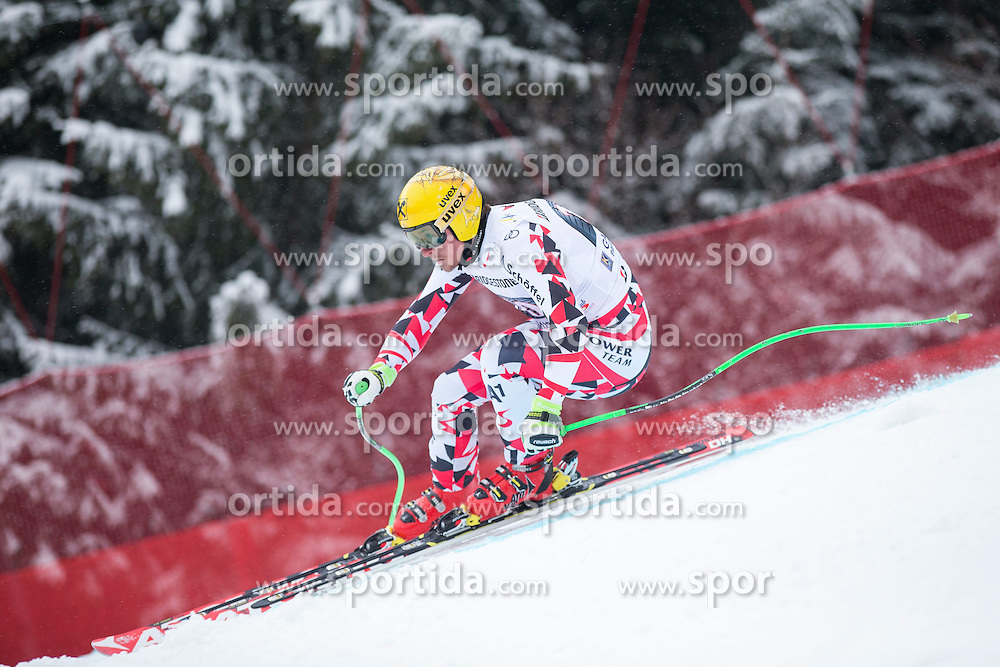 28.02.2015, Kandahar, Garmisch Partenkirchen, GER, FIS Weltcup Ski Alpin, Abfahrt, Herren, im Bild Max Franz (AUT) // Max Franz of Austria in action during the run for the men's Downhill of the FIS Ski Alpine World Cup at the Kandahar course, Garmisch Partenkirchen, Germany on 2015/28/02. EXPA Pictures © 2015, PhotoCredit: EXPA/ Johann Groder