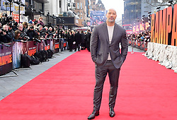 Dwayne Johnson attending the European premiere of Rampage, held at the Cineworld in Leicester Square, London. Picture date: Wednesday April 11, 2018. See PA story SHOWBIZ Rampage. Photo credit should read: Ian West/PA Wire
