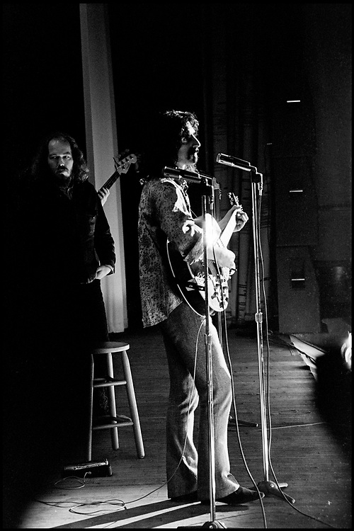 Fall River, Masachusetts - 18 February 1968. Frank Zappa and The Mothers of Invention in performance at the Durfee Theater.. Behind Zappa on stage is Ray Collins.
