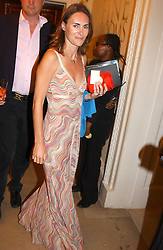 LAETITIA CASH and the MARQUESS OF WORCESTER at the Royal Academy of Arts Summer Exhibition Preview Party held at Burlington House, Piccadilly, London on 2nd June 2005<br />