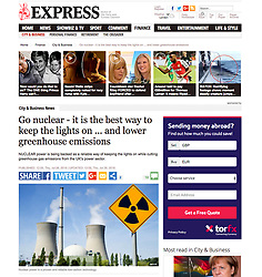 Express.co.uk newspaper; Nuclear Power Station